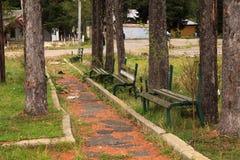 Abandoned benches Royalty Free Stock Image