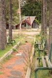 Abandoned benches Royalty Free Stock Photo