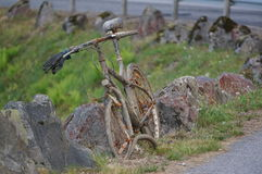 Abandoned bicycle, Norway royalty free stock photo