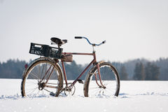 Abandoned bicycles Stock Image