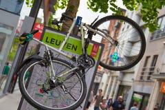 Abandoned bike in city center