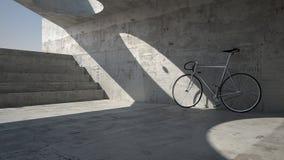 Abandoned bike in underground place. Imaginary scene Stock Photo
