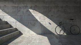 Abandoned bike in underground place. Imaginary scene Royalty Free Stock Image
