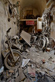 Abandoned bikes shop in market in Yazd, Iran Royalty Free Stock Photo