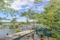 Abandoned Birdge at Parana River at Iguazu Falls Royalty Free Stock Images