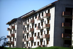 Abandoned blocks of flats Royalty Free Stock Photos