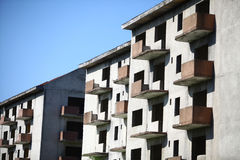 Abandoned blocks of flats. Color image of some abandoned blocks of flats Royalty Free Stock Photos