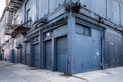 Abandoned Blue Building NYC Royalty Free Stock Image