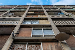 Abandoned boarded up flats, Park Hill, Sheffield, South Yorkshire, England, UK. Social housing stock image