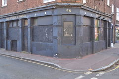 Abandoned boarded up old pub London Royalty Free Stock Image