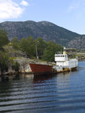Abandoned Boat. Moored in the Lysefjord Stock Photo