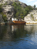 Abandoned Boat. Moored in the Lysefjord Royalty Free Stock Images