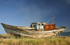 Abandoned boat royalty free stock image