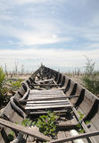 Abandoned boat. An abandoned boat by the beach Royalty Free Stock Photo