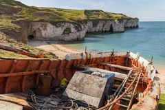 Flamborough North Landing, East Riding of Yorkshire, UK Royalty Free Stock Images