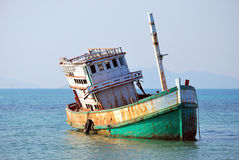 Abandoned Boat at Koh Mak Stock Photos
