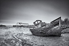 Abandoned boat Royalty Free Stock Photography