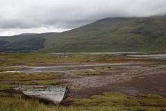 Abandoned boat on Mull royalty free stock images