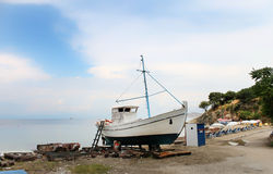 Abandoned boat in Thassos, Greece Royalty Free Stock Photos