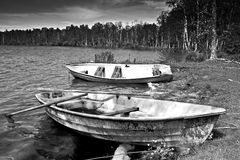 Abandoned Boats Royalty Free Stock Photography