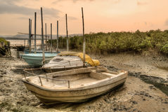 Abandoned boats Stock Image