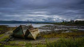 Abandoned boats royalty free stock photo