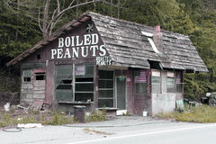 Abandoned Boiled Peanuts Stop. Stock Photography