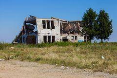 Bombed Building in Serbia Royalty Free Stock Photography