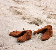Abandoned boots Royalty Free Stock Photo