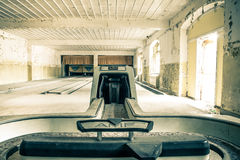 Abandoned Bowling Alley Royalty Free Stock Images