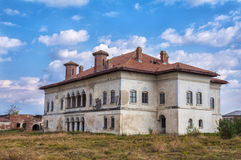Abandoned Boyar mansion to decay in Romania stock images