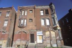 Abandoned brick apartment, Philadelphia, Pennsylvania Royalty Free Stock Photography