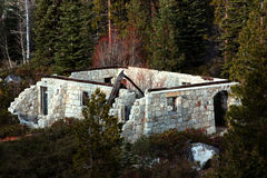 Abandoned Brick Building. Brick building from the Forest Service in El Dorado County Stock Photos