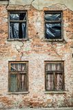 Abandoned brick building royalty free stock photography