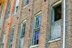 Abandoned Brick Factory Building Broken Windows Royalty Free Stock Photo