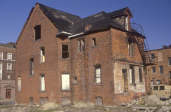 Abandoned brick house Royalty Free Stock Image