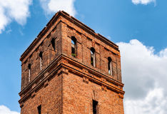 Abandoned brick tower Royalty Free Stock Photos