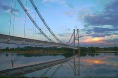 The abandoned bridge. The abandoned hanging bridge at Putrajaya, Malaysia royalty free stock image