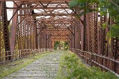Abandoned Bridge. An abandoned bridge in Bloomington, Minnesota royalty free stock image