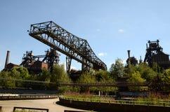 Abandoned bridge crane Stock Images
