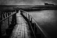Abandoned bridge curve Royalty Free Stock Images