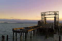 Abandoned Bridge in San Francisco Bay Stock Photo