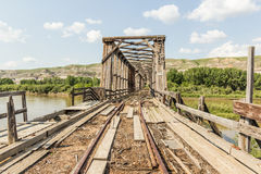 Abandoned bridge Stock Photography