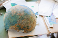 Abandoned and broken globe Royalty Free Stock Image
