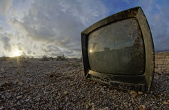 Abandoned Broken Television Stock Images