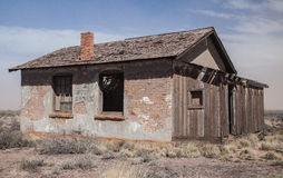 Abandoned Build in New Mexico Desert Royalty Free Stock Photo
