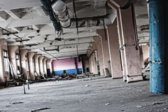 Abandoned building. Old abandoned derelict building interior Royalty Free Stock Photos