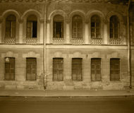 Abandoned building. Abandoned and spooky building at night Royalty Free Stock Photo
