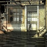 Abandoned Building. 3D Render of an Abandoned Building royalty free illustration