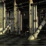 Abandoned Building. 3D Render of an Abandoned Building vector illustration